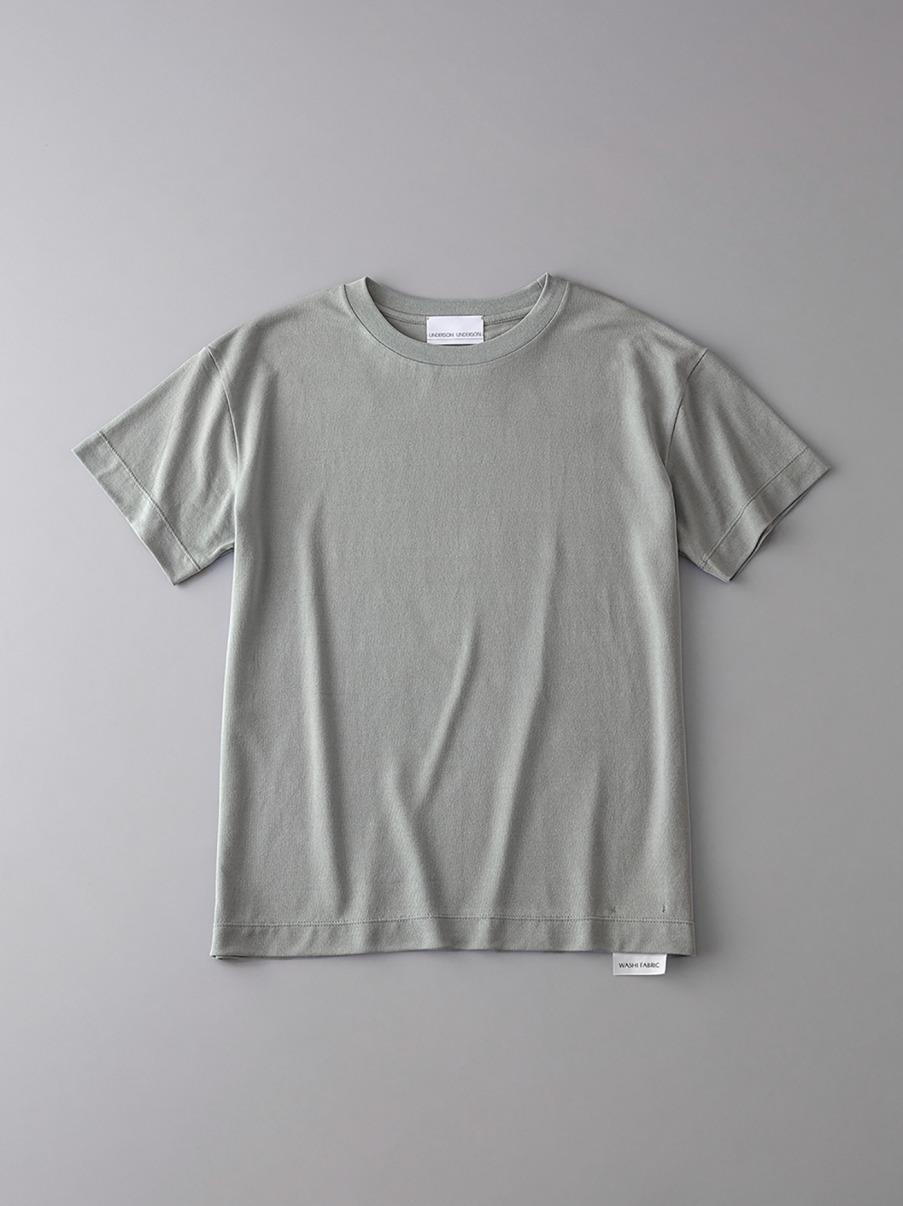 ボタニカル ドロップショルダークルーネックTシャツ【ウィメンズ】(KKI-0)